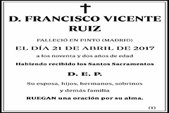 Francisco Vicente Ruiz